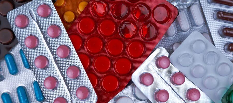 Abbildung von Tablettenschachteln