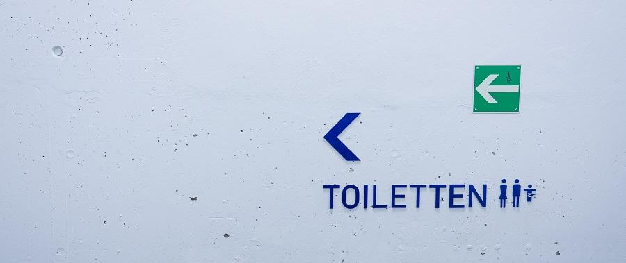 Toilettenschild haeufiges Wasserlassen bei Prostatavergroesserung